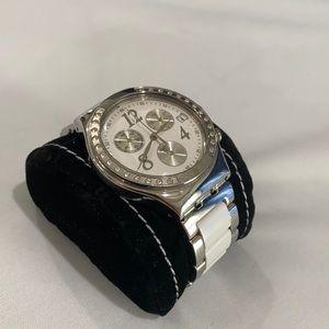 Swatch Quartz Movement White Dial Unisex Watch